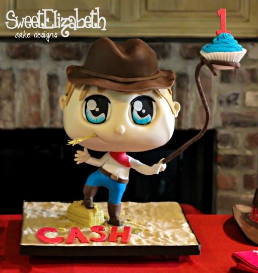 Chibi Cowboy Cake