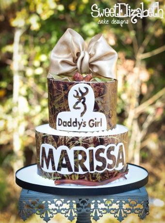 Camoflauge Golden Birthday Cake