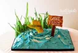 Gone Fishin' Groom's Cake