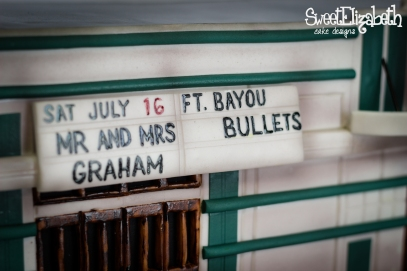 The Varsity Baton Rouge Louisiana Groom's Cake Featuring The Bayou Bullets