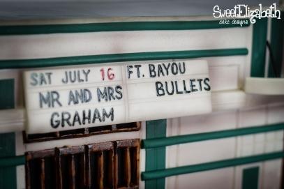 The Varsity Baton Rouge Louisiana Groom's Cake Featuring The Bayou Bullets
