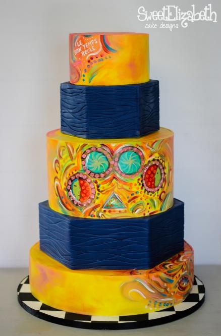 The Varsity Baton Rouge Louisiana Wedding Cake Mural