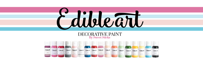 EDIBLE ART PAINT BANNER WITH BOTTLES